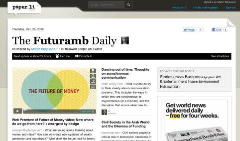 The Futuramb Daily
